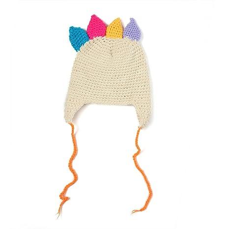 Fenical Cappelli di Tacchino Cappelli di Lana Inverno Cappelli a Maglia  Caldo Cappucci di Protezione di Cartone Animato Tappi Uncinetto a Mano per  ... 60591923b55c