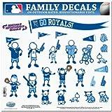 kc royals car window decal - MLB Kansas City Royals Large Family Decal Set
