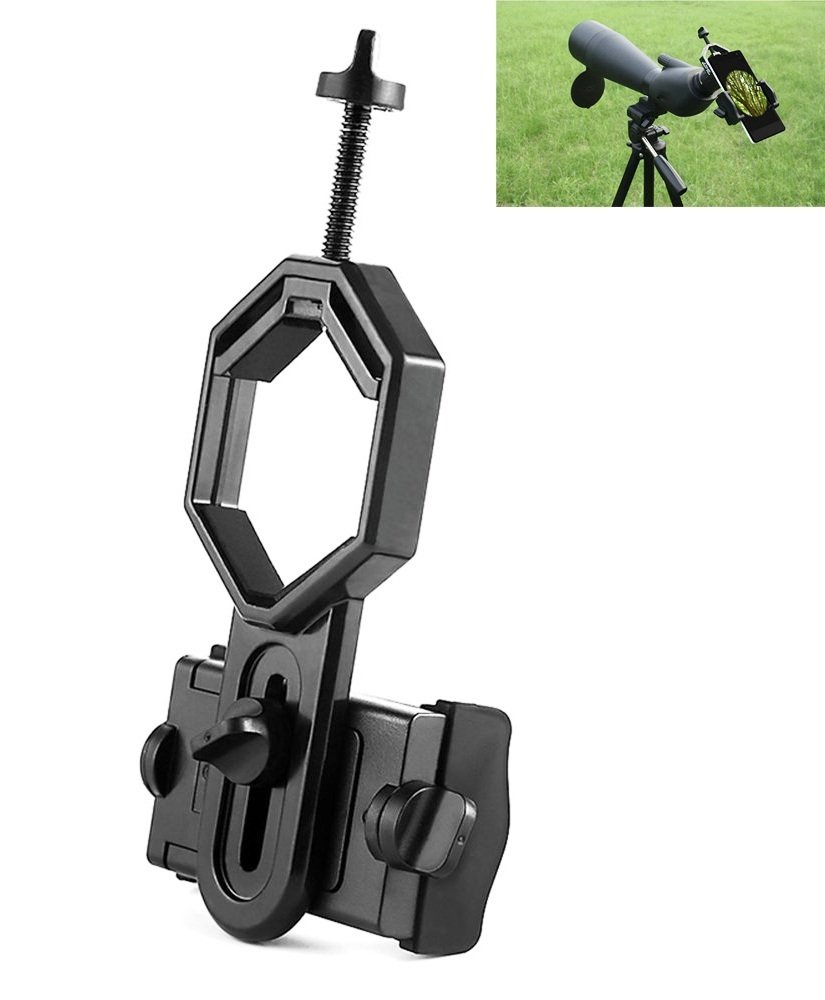 MyBreeze@ Universal Phone Spotting Scope Adapter Compatible with Telescope Spotting Scopes Binoculars Monoculars (CM4)