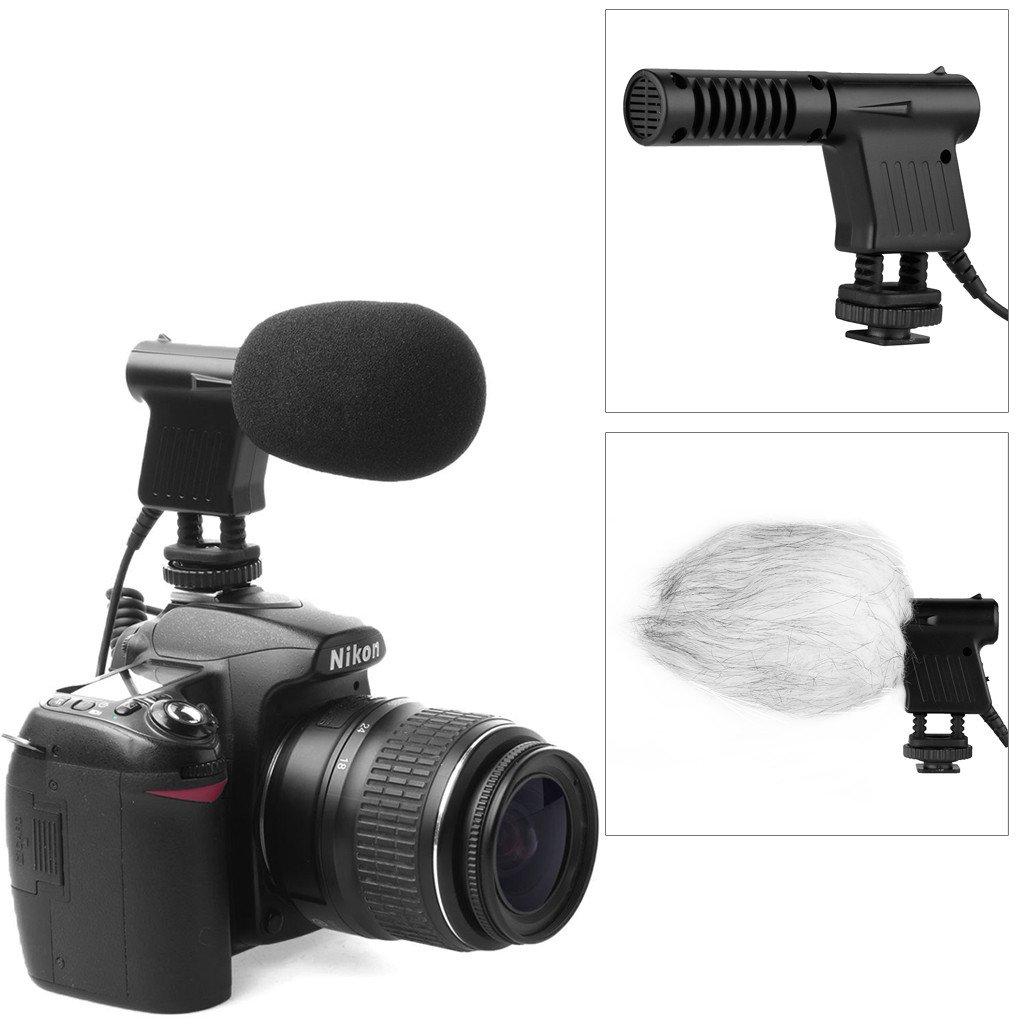 Boya micrófono de condensador de vídeo micrófono de condensador direccional fotográfico conector