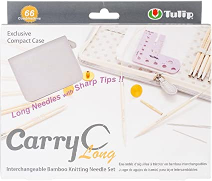 Carry C Interchangeable Bamboo Knitting Needle Long Set TP1264