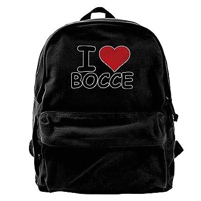 SAGDHFH Zaino in tela con scritta I Love Bocce Ball, per