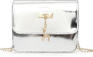 Women Laser Leather Crossbody Bags Messenger Shoulder Bag
