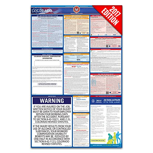 2017 Colorado Labor Law Poster - State & Federal Compliant - Laminated
