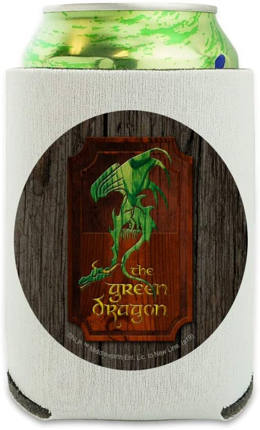 Lord of the Rings The Green Dragon Can Cooler - Drink Sleeve Hugger Collapsible Insulator - Beverage Insulated Holder