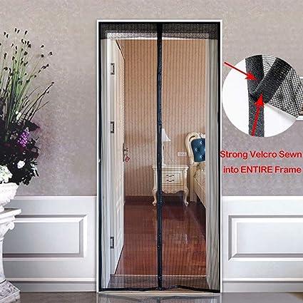 Lichll Mosquitera para Puerta Cortina Magnética,protección de Insectos Cortina magnética Mosca Cortina para Sala de Estar balcón,Fácil de Instalar,Negro,100x210cm(39x83inch): Amazon.es: Hogar