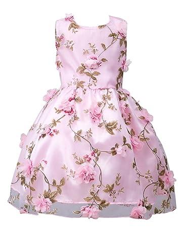 MISSMAO Ragazze Vestito da Compleanno Abito da Sposa Abito Elegante da  Bambina Tutu Vestito con Fiore  Amazon.it  Sport e tempo libero b84e4c0f0f4