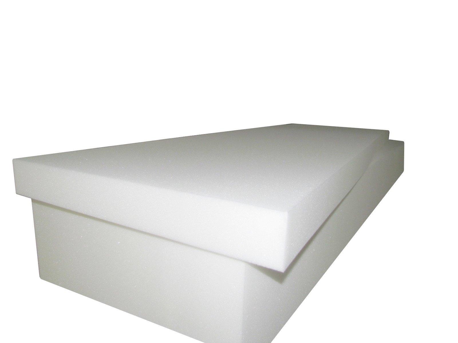 Foam Cushion 4''T x 27''W x 80''L (1536) ''Medium Firm'' Sofa Seat Replacement Foam Cushion, Upholstery Foam Slab, Foam Padding by Isellfoam