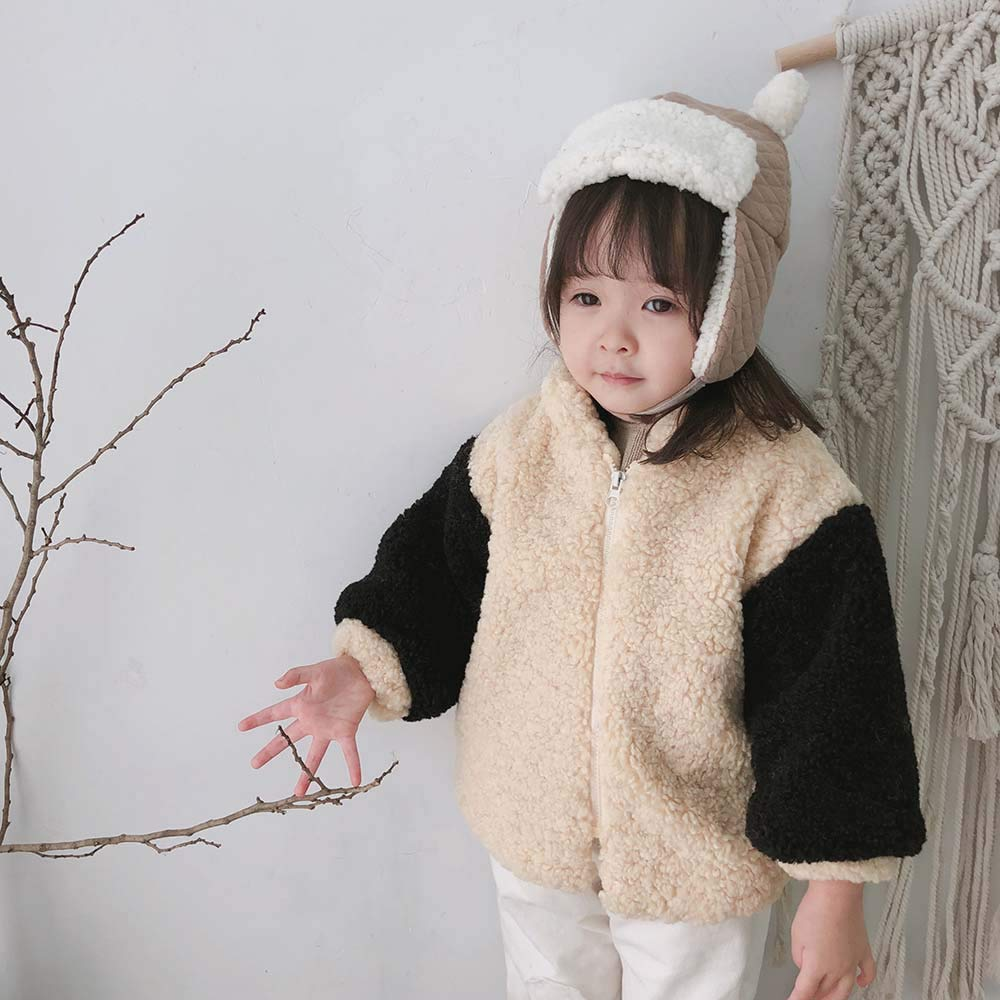 Dingji Toddler Baby Kids Girl Jacket Fluffy Thicken Warm Casual Cardigan Coat
