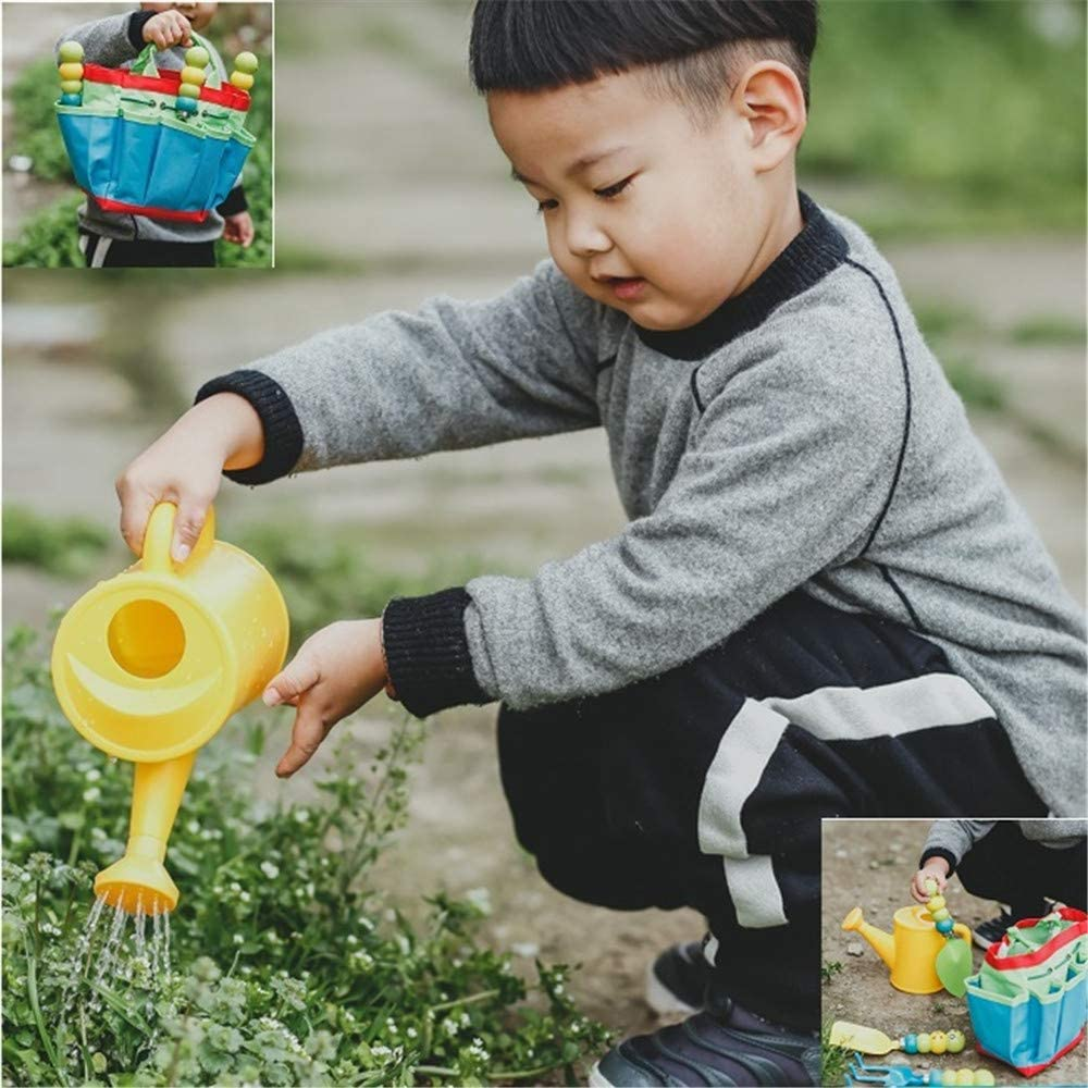 Shovel /& Rake Tote Bag Toddler Gardening Set for Kids WINNING 5 Pcs Kids Garden Tools Outdoor Play Set Children Mini Garden Gift Toys Carry Bag Includes Watering Can Kids Gardening Tools Bag Set