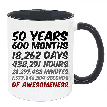 Amazon.com: Taza de 50 cumpleaños o regalo de aniversario ...