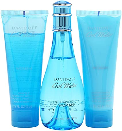 Davidoff Cool water woman set Eau De Toilette 100 ml+75ml lotion+75 gel