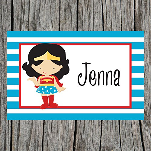 Striped Supergirl Personalized Placemat for Kids
