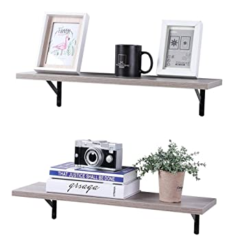 SUPERJARE 2-Shelf Floating Shelves