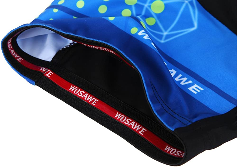 WOSAWE Men Cycling Shorts Breathable MTB 3D Cushion Padded Half Pants for Racing Motorcycle Running or Outdoor Sports