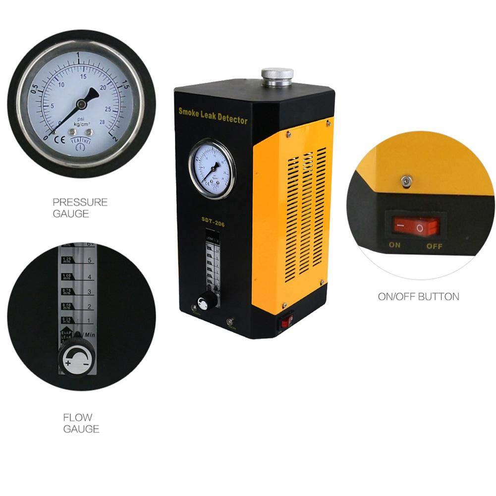 SDT-206 Car Smoke Machines Professional Repairing Adjustable Flowmeter Cars Leak Locator Automotive Diagnostic Leak Detector by Wal front (Image #4)