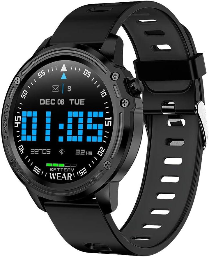 Reloj Inteligente con Monitor de Ritmo Cardíaco Smartwatch con Pantalla Táctil IP68 a Prueba de Agua con Monitor de Sueño y Notificación de Llamadas por SMS Reloj Deportivo para Android,Negro