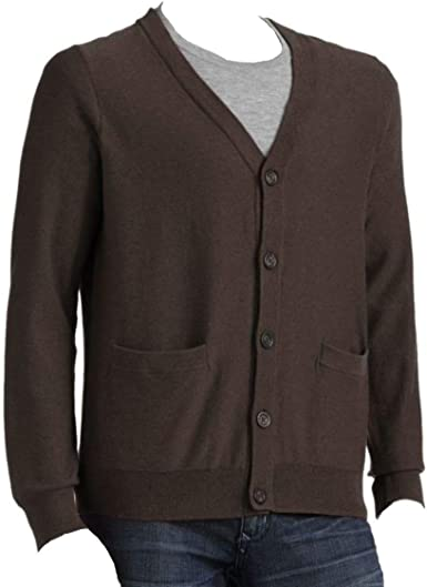 Croft /& Barrow Classic Fit Lightweight Cardigan Sweater Brown