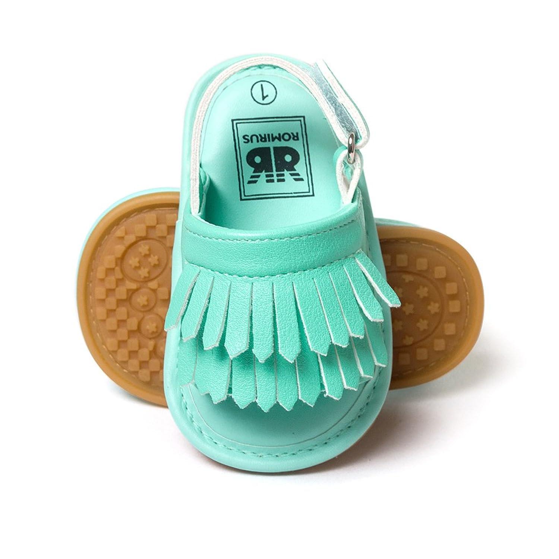 Amazon.com   Kuner Unisex Baby Tassel Rubber Sole Non-slip Summer Prewalker Sandals First Walkers   Shoes