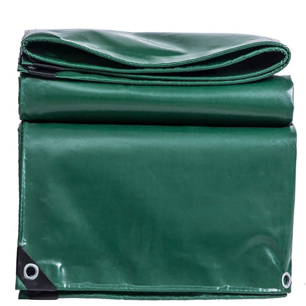 Yuan Zeltplanen Tarpaulin Canvas Linoleum Sunscreen Wasserdichte Frostschutzmittel Anti-Aging Outdoor/Grün / 13 Größen/Plane
