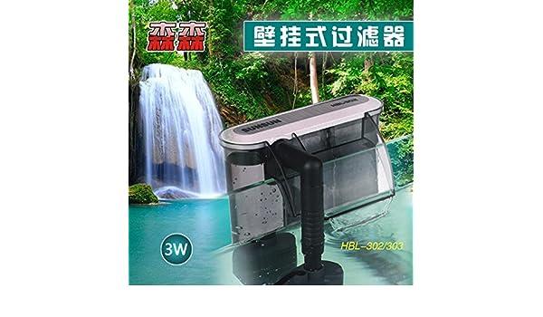 Filtro de cascada pared pecera pequeña ultra silencioso filtro de la bomba de acuario bomba de oxígeno enchufe externo envío libre: Amazon.es: Oficina y ...
