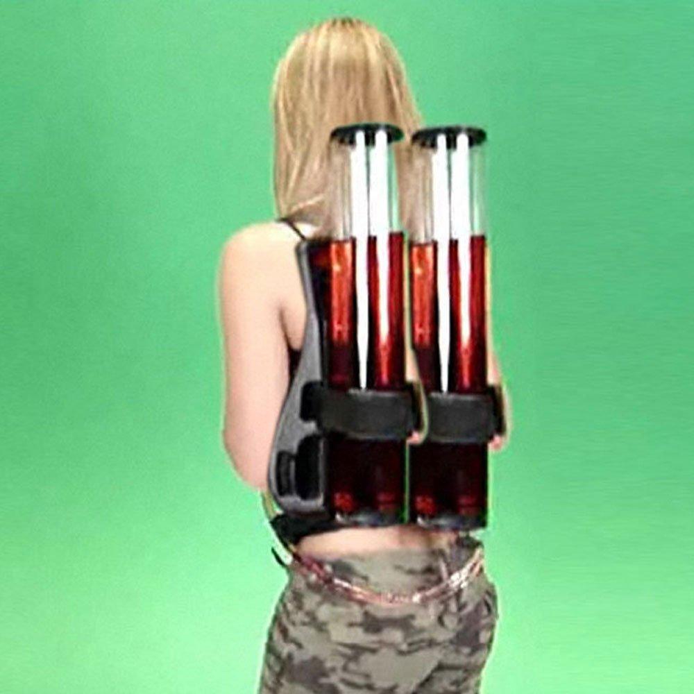 HMJZ Tipo De La Mochila Que Bebe El Dispensador Binocular del Vino De La Botella De Cerveza De La Cerveza con La Máquina Doble De La Bebida del Arma: ...