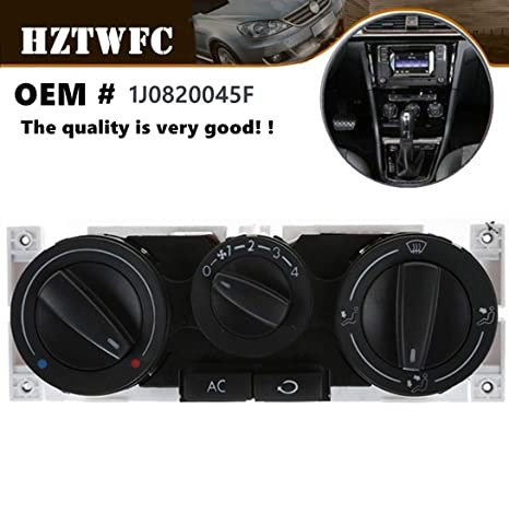 Air & Heater AC Control Assembly Panel Switch OEM # 1J0820045F Compatible  For Volkswagen Golf Jetta Mk3