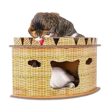 sunronal Camada para Gatos - Casa de Gato Creativa en Forma de Abanico Esquina de Gato