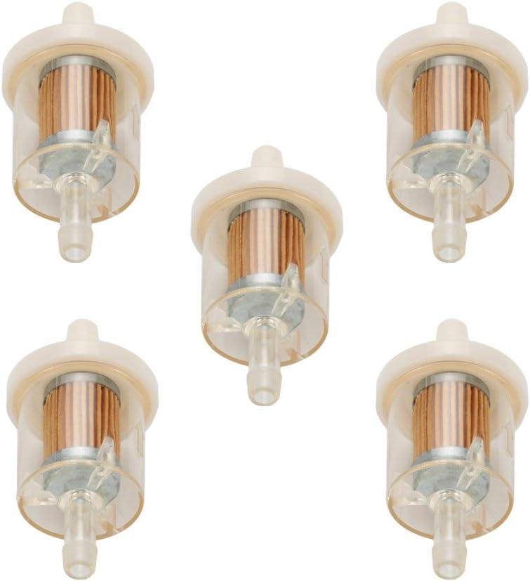 Milttor 5 Packs 493629 691035 Fuel Filter Replace Deere Toro//Wheel Horse 71-5960 Kohler