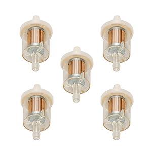 Milttor 5 Packs 493629 691035 Fuel Filter Replace John Deere Toro/Wheel Horse 71-5960 Kohler