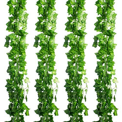 Wedding Vine - CEWOR 36pcs (236 Feet) Artificial Ivy Fake Greenery Vine Leaves for Home Wedding Garden Swing Frame Decoration
