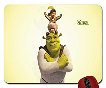 Shrek Donkey And Puss In Boots The Wallpaper Mouse Pad