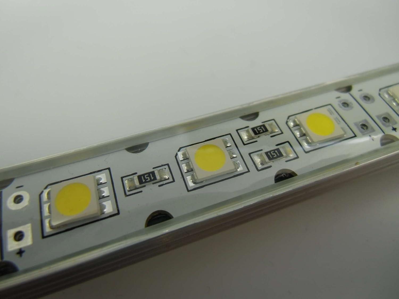 SMD 30 LED Leiste Wasserfest warm weiß 50cm 12V, IP64: Amazon.de ...