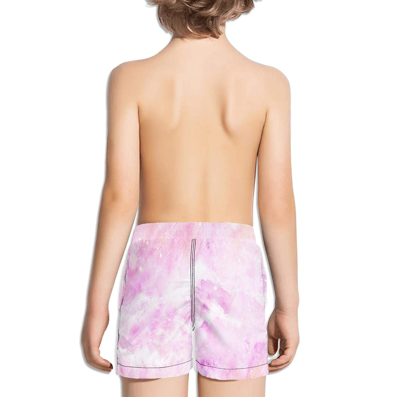 Kukuzql Little Boys Pink Crane1 Short Swim Trunks Quick Dry Beach Shorts