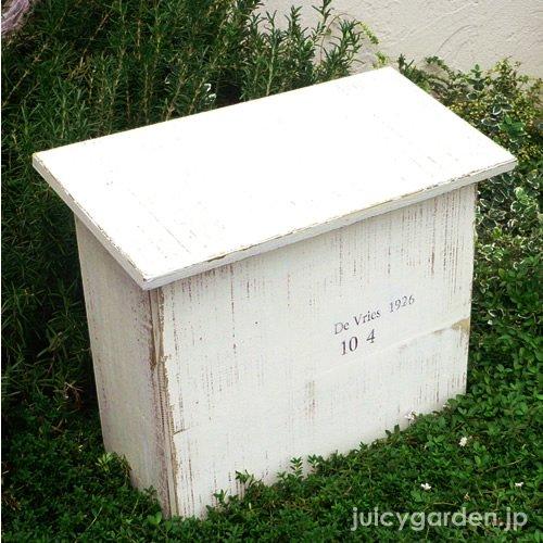 シャビーシックな木製 郵便ポスト Souffle<スフレ> アンティーク加工でレトロな雰囲気 ポスト POST B00MBAGF8I 15660