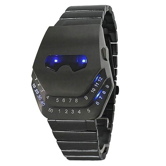 mastop Hombres especiales del estilo casual relojes Gadgets interesantes Amazing diseño de cabeza de serpiente rojo LED reloj: Amazon.es: Relojes
