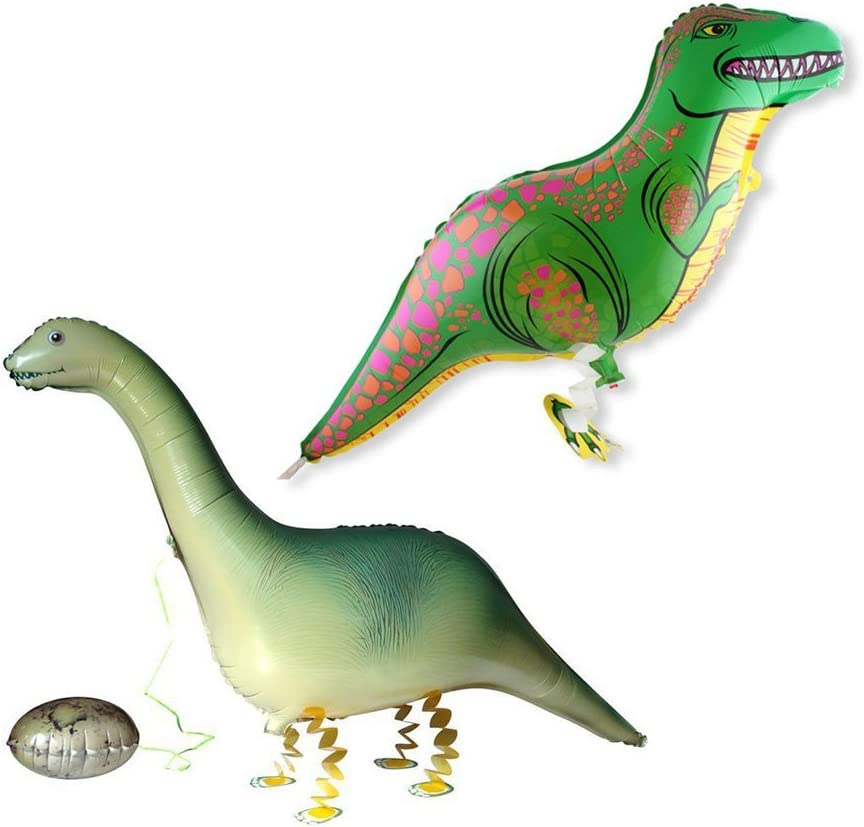 Grinde NO Pack of 2 Dinosaur Balloons Walking Animal Balloon Air Walkers Kids Birthday Party Decor