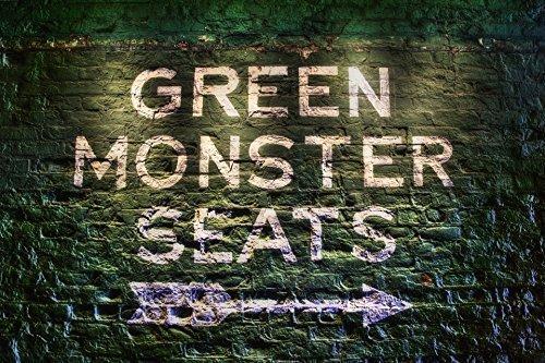 Boston Red Sox Green Monster Seats, Fenway Park Green Monster Print, Red Sox Art ()