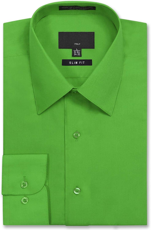 Allsense Men's Long Sleeve Slim Fit Dress Shirts