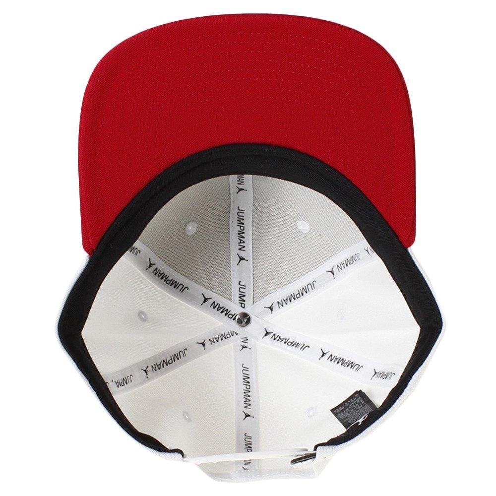 3b773a1b Jordan Cap - Jumpman Snapback White/red/Black Size: Adjustable:  Amazon.co.uk: Clothing