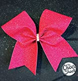 Pink Glitter Cheer Bow, Cheer Bow