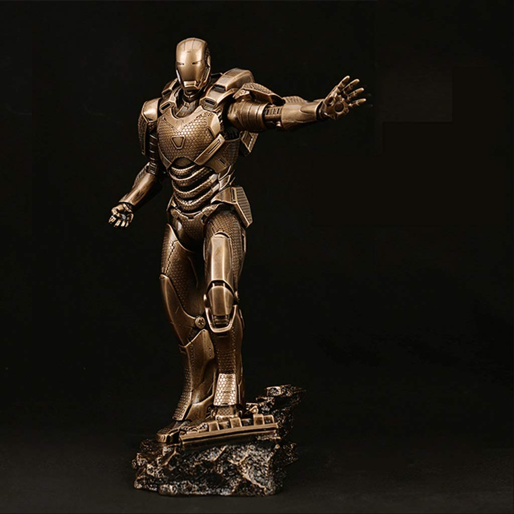 Zhizaibide Anime Iron Man MK39 Sculpture GK Resin Toys Anime High 32cm Avengers Series Models Decoration Collectibles Souvenirs Home Office Decorations