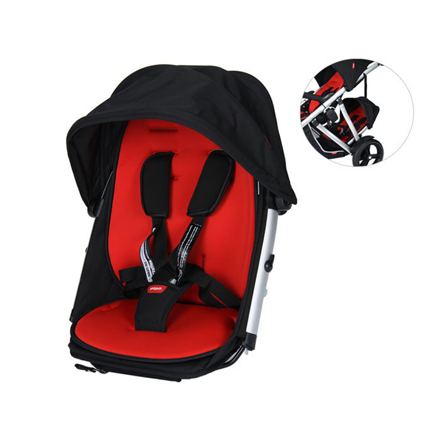 Phil & Teds Verve Double Kit Only - Black/Red Phil and Teds
