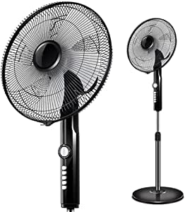 Ventilador Eléctrico Práctico, Ventilador Vertical de la Maquinaria de la Casa Que Sacude Su Cabeza Ventilador Del Piso Del Escritorio de la Sincronización Silenciosa. para Sala de Estar Dormitorio O: Amazon.es: Bricolaje