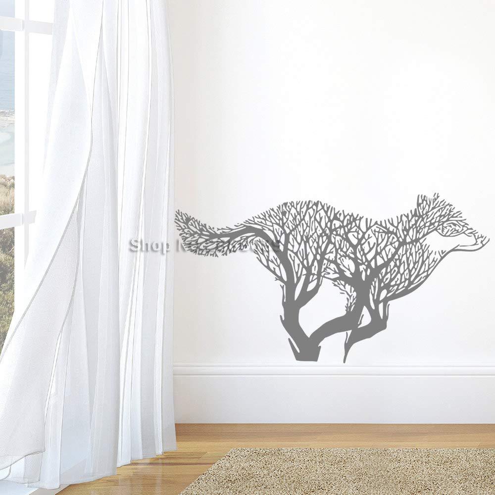 Ajcwhml Tatuaje Apliques Lobo árbol Modelado Pegatinas de Pared de ...