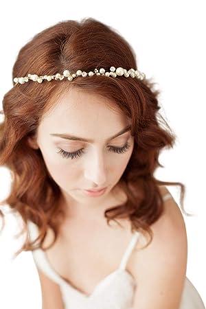 809d4783a485c6 TOPQUEEN Gold Perle Strass Braut Haarkamm Hochzeit Haarschmuck Tiara  Diadem, Schmetterlinge (HP03)