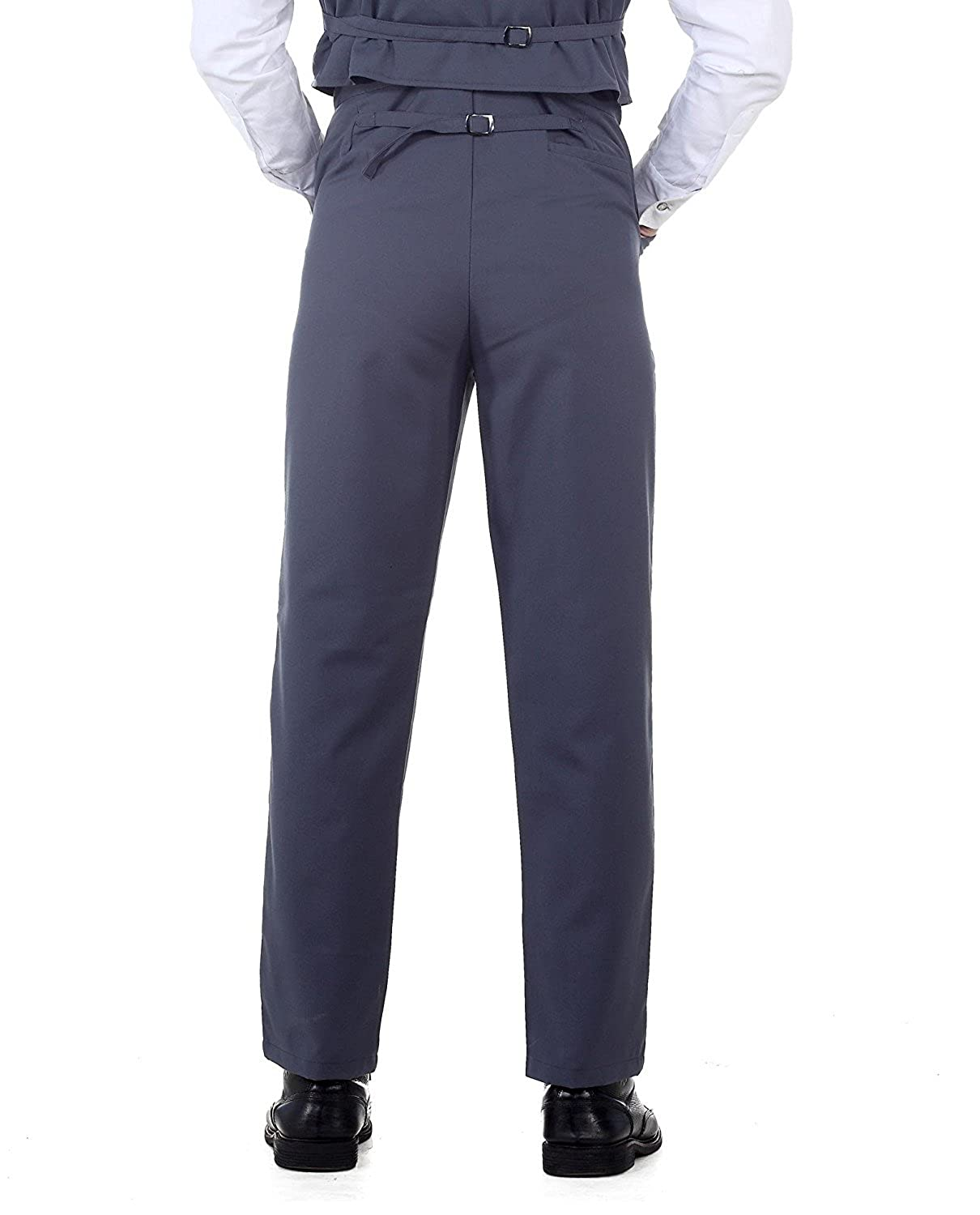 Edwardian Men's Fashion & Clothing Steampunk Victorian Costume Canvas Classic Pants Grey $37.95 AT vintagedancer.com