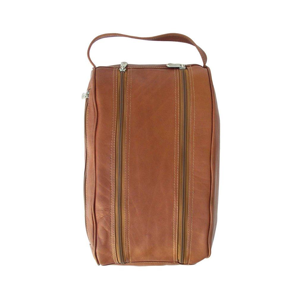 Piel Leather Double Compartment Shoe Bag, Saddle, One Size