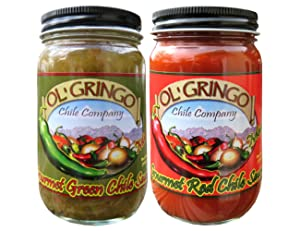 Ol' Gringo Chile Company Flame Roasted New Mexico Green Chile Sauce & Red Chile Sauce - 2 Pack - (Medium Heat)