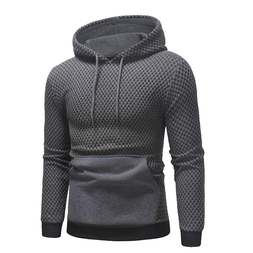 Hoodies Slim Fit for Men,Men's Big and Tall Big & Tall Midweight Signature Sleeve Logo Hooded Sweatshirt Gray